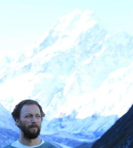 Kalin in front of Mt. Everest.
