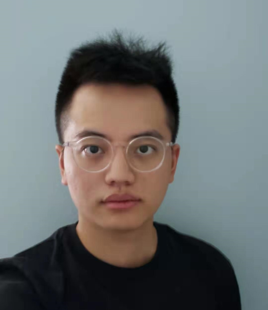 Liupei with glasses.