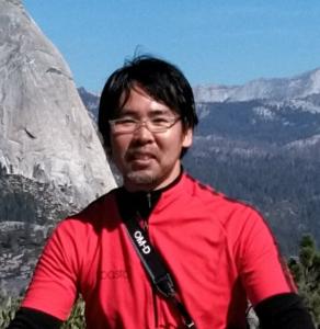 Kazunori prepared to mountain climb.
